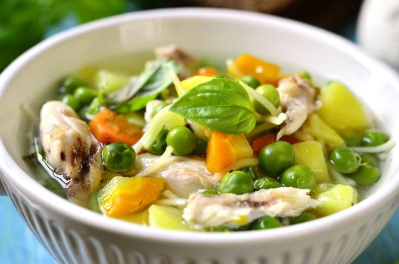 Суп из индейки с зеленым горошком рецепт