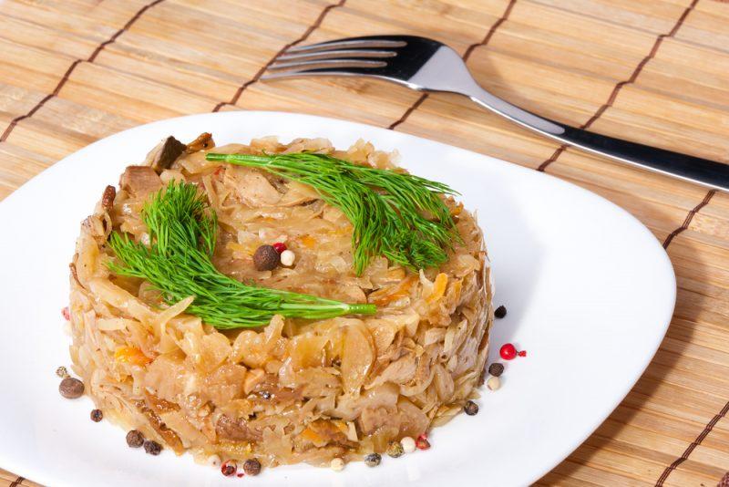 Тушеная капуста со шпиком рецепт