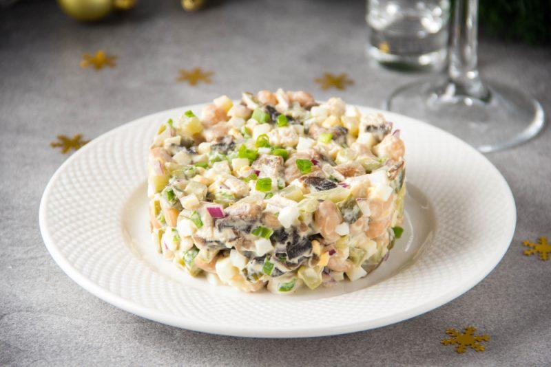 Салат из говядины с шампиньонами: фото