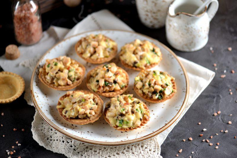 Тарталетки с грибами фото