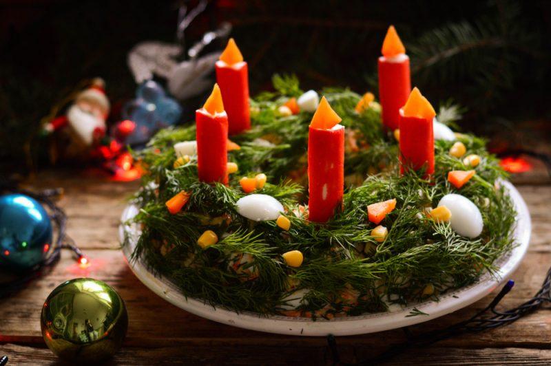 Рождественские салаты с говядиной: фото