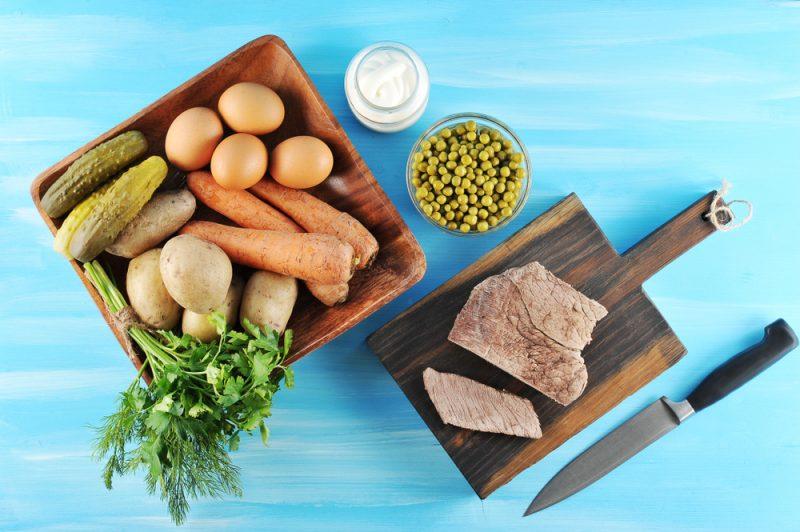 Ингредиенты для салата: фото
