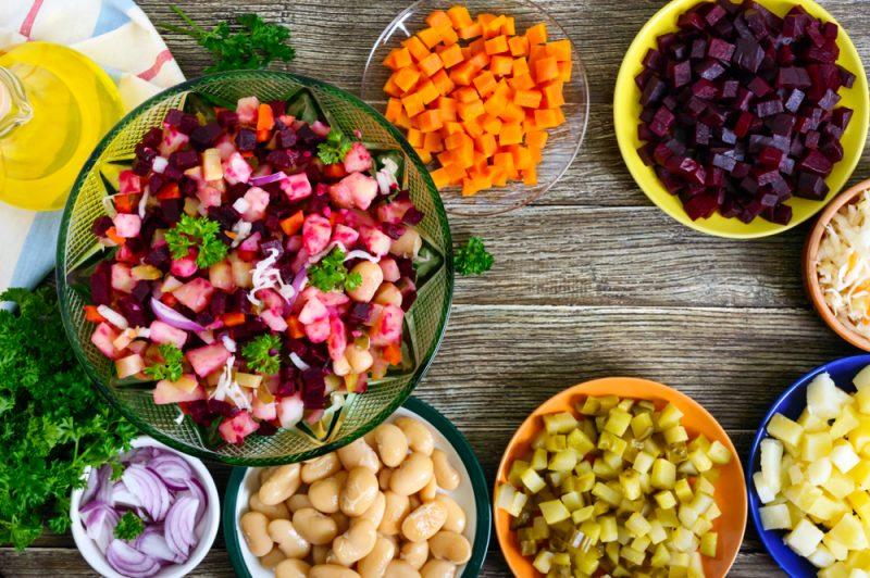 Новогодние салаты: фото