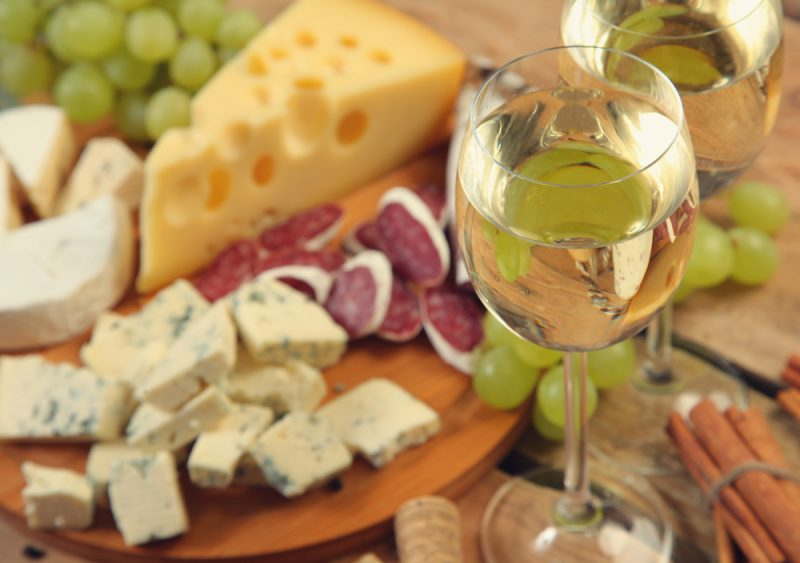 Набор для винной тарелки: фото