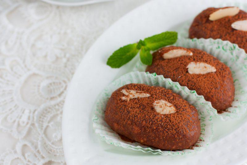 Шоколадные сырные шарики: фото