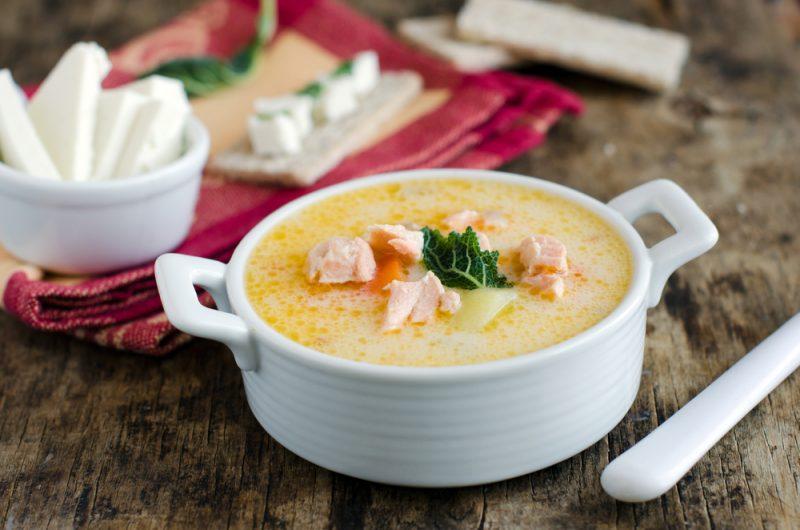 Сырный суп с сёмгой: рецепт с фото