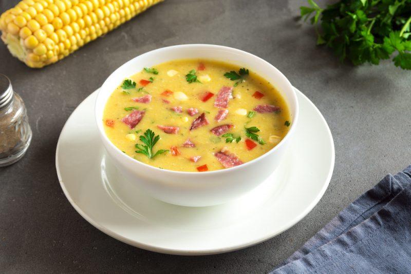Сырный суп с копчёностями: рецепт с фото