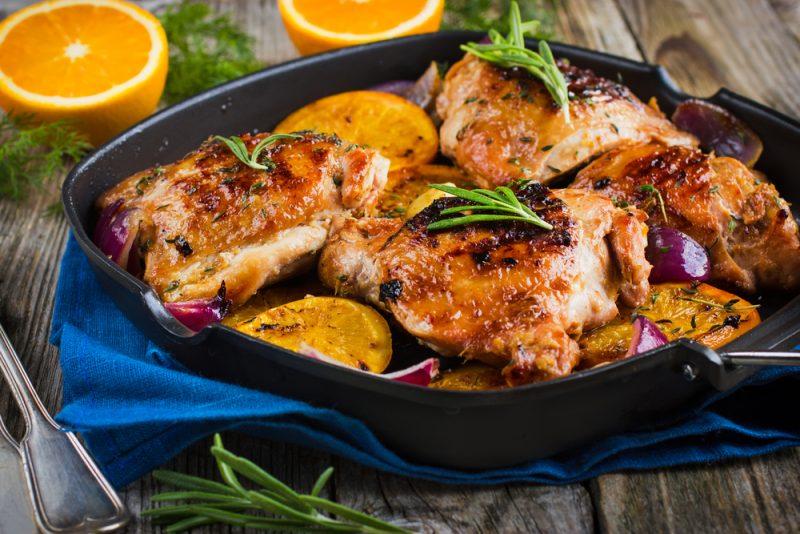 Курица в апельсинах: рецепт с фото