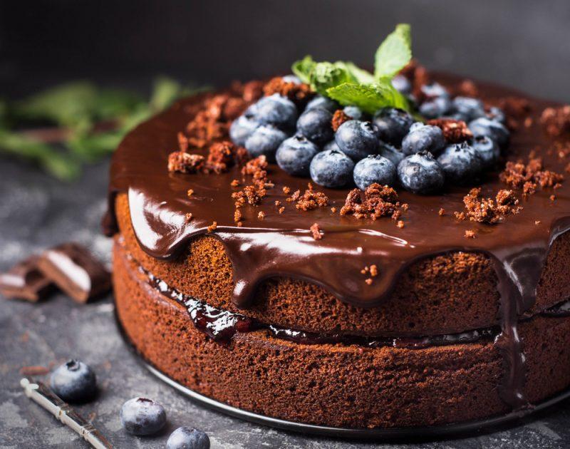 Шоколадный торт: бисквит с добавлением шоколада