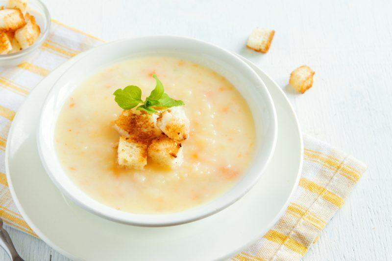 Крем-суп с плавлеными сырками