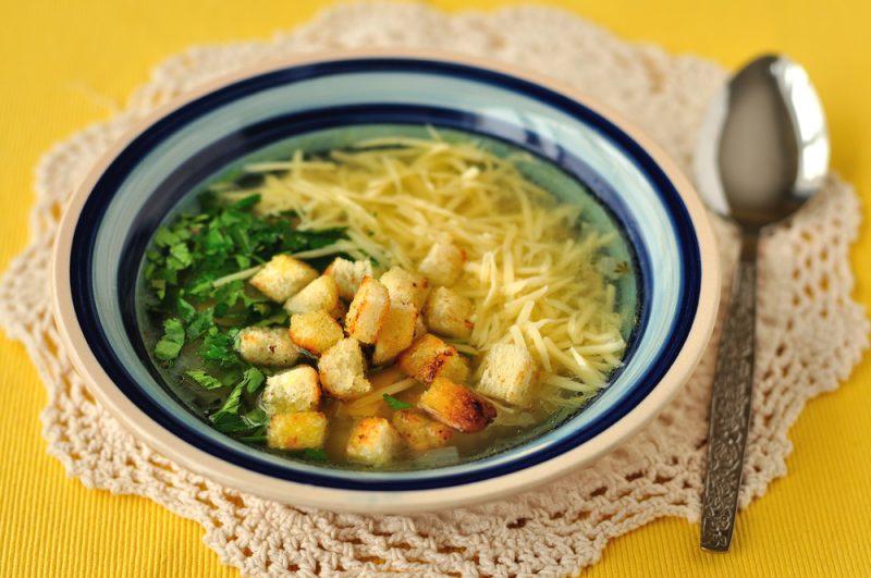 Чесночный суп по-чешски: рецепт