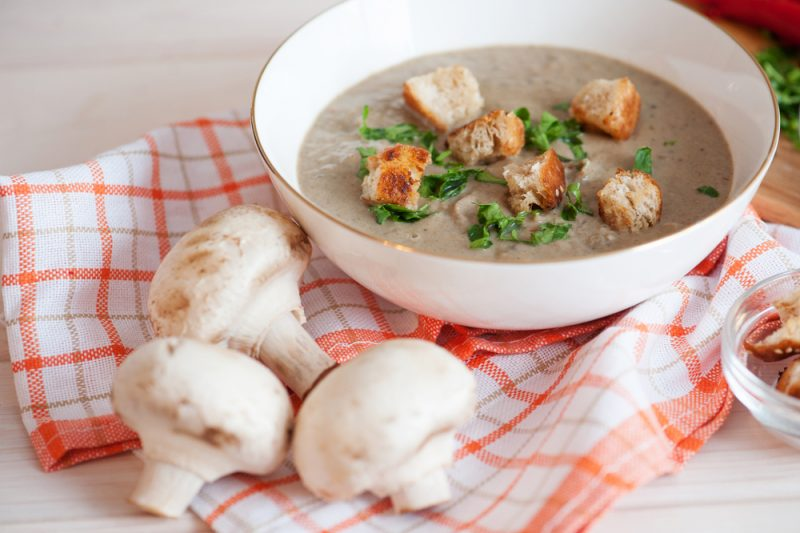 Крем-суп из шампиньонов: рецепт
