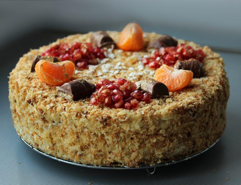 """Торт """"Наполеон"""" с заварным кремом: рецепт с фото"""