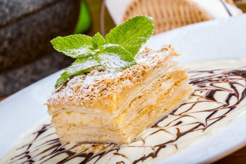 Наполеон: рецепт с заварным кремом
