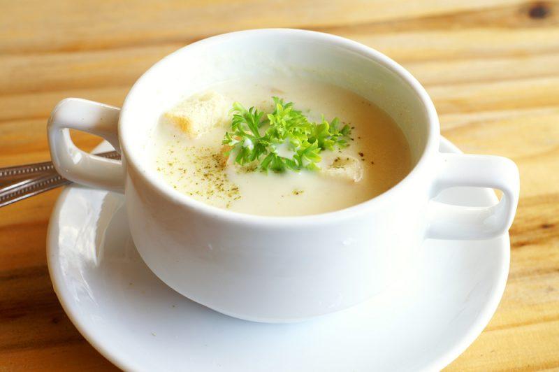Луковый суп с молоком и сыром: фото