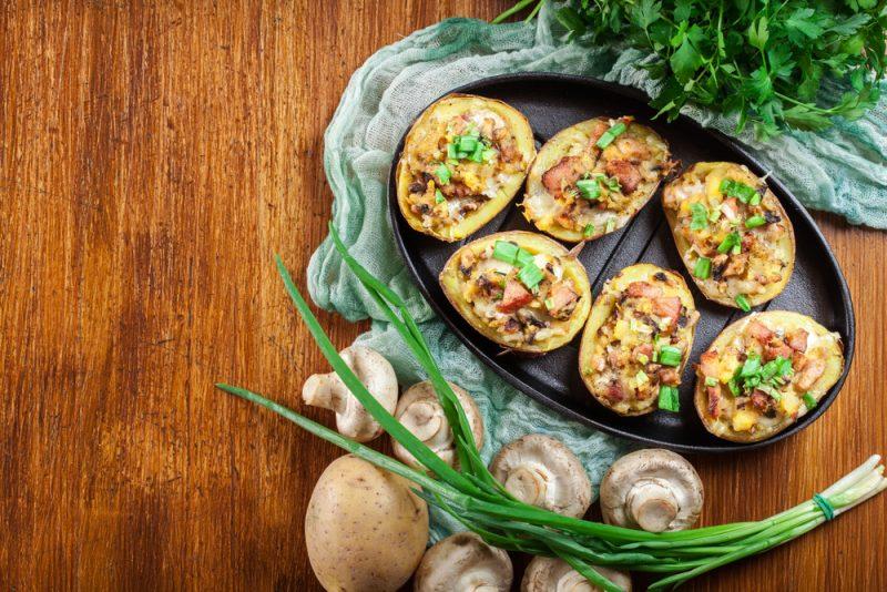 «Гнездо» с грибами: пошаговый рецепт