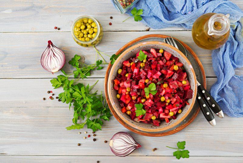 Салат винегрет с горошком: рецепт