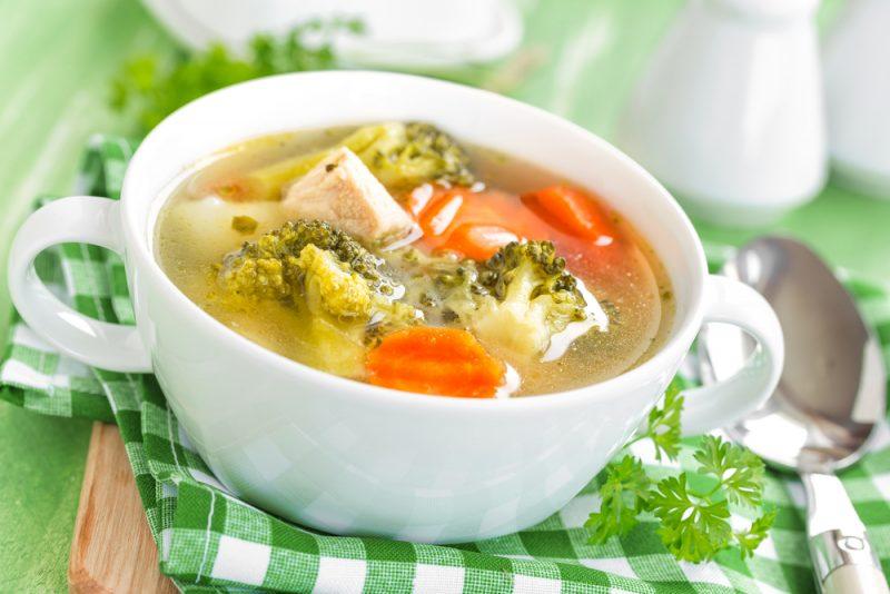 Куриный суп с брокколи: рецепт с фото