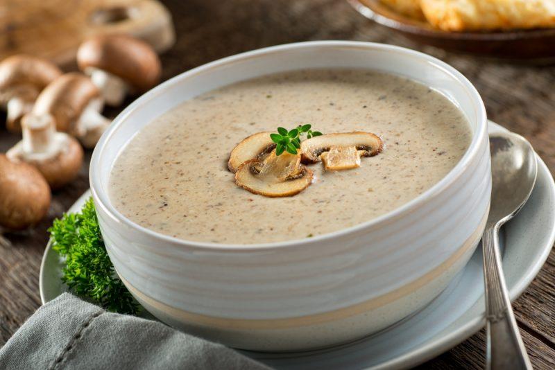 Крем-суп из грибов в мультиварке