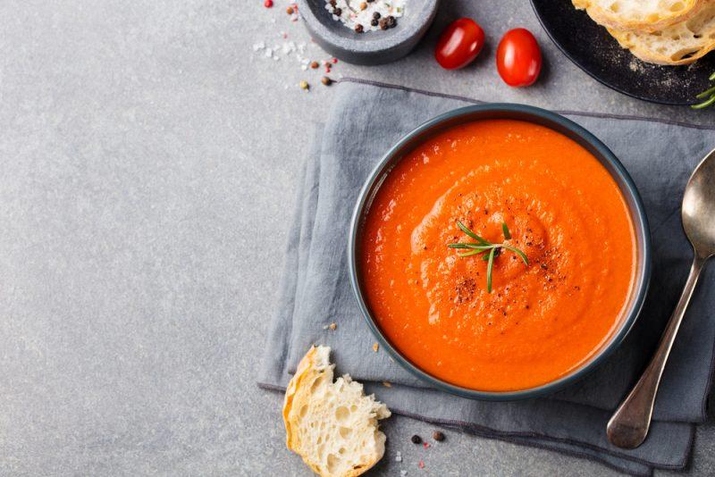 Суп-пюре из томатов: рецепт с фото