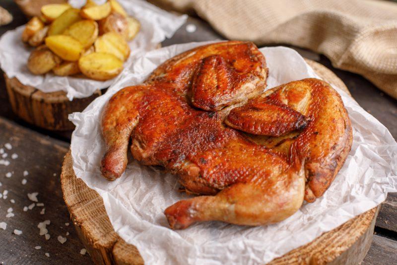 Классический цыпленок табака: пошаговый рецепт
