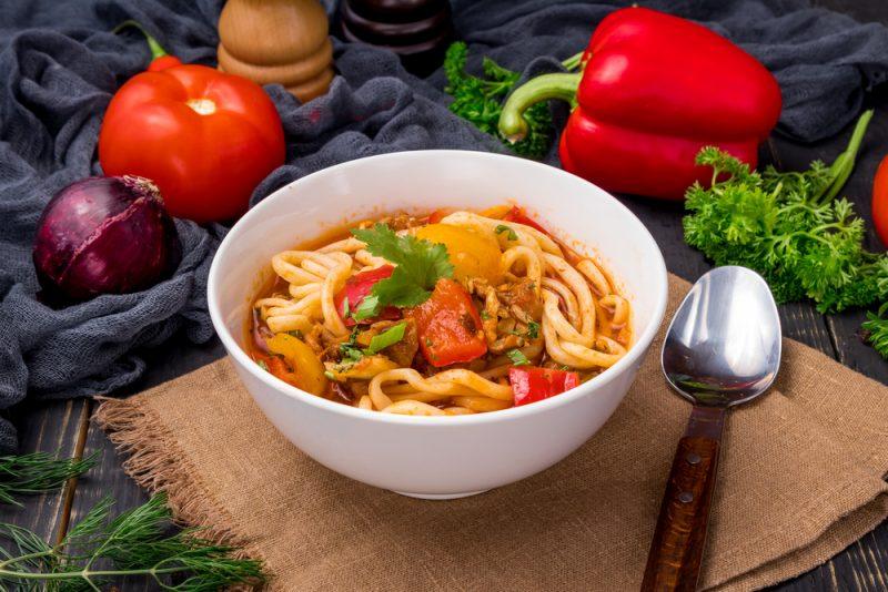 Вегетарианский рецепт лагмана: фото