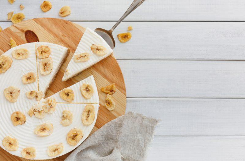 Нежный банановый чизкейк без выпечки: рецепт