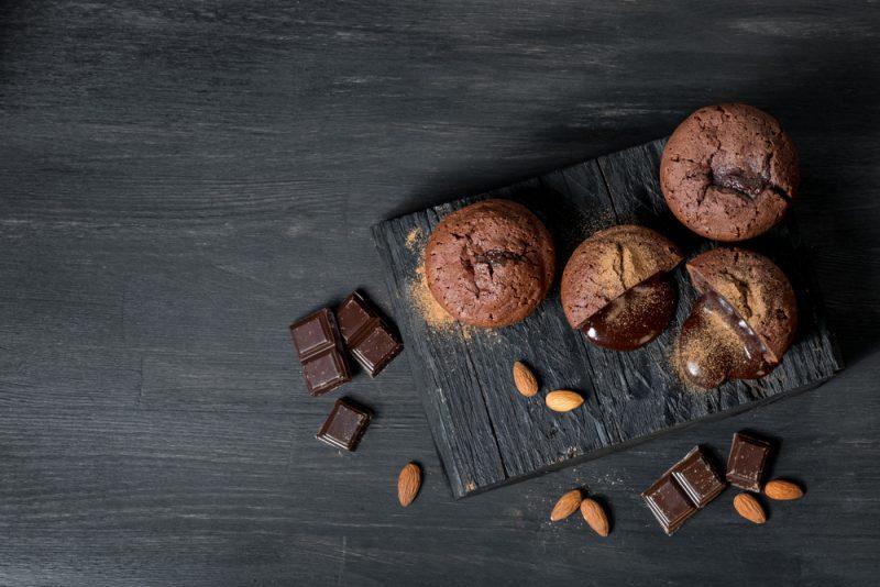 Шоколадный фондан для тех, кто считает калории