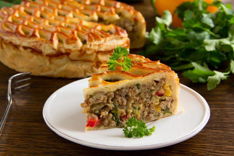 Пирог с мясом: рецепты с фото