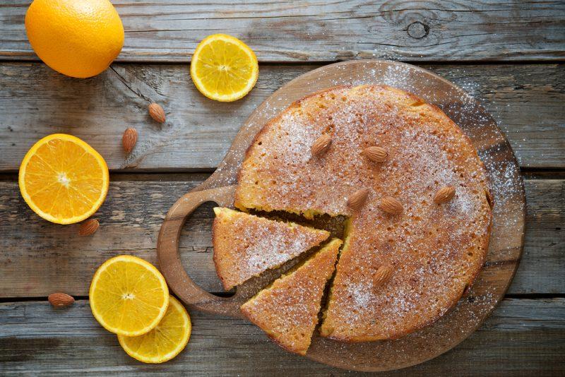 Апельсиновый кекс из нута без муки
