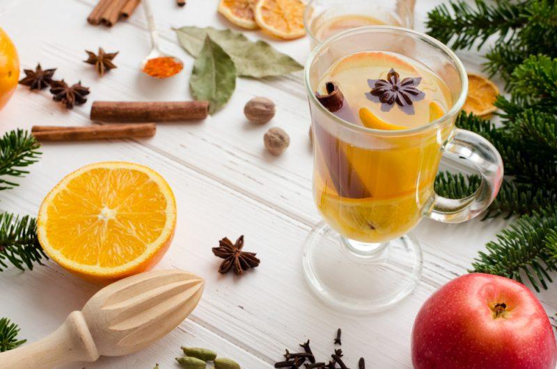 Пряный грог на апельсине: рецепт