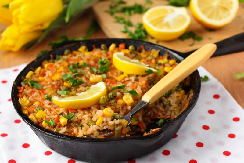 Вегетарианская паэлья: рецепт с фото
