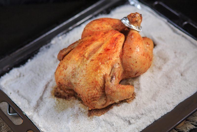 Рецепт курицы на соли в духовке