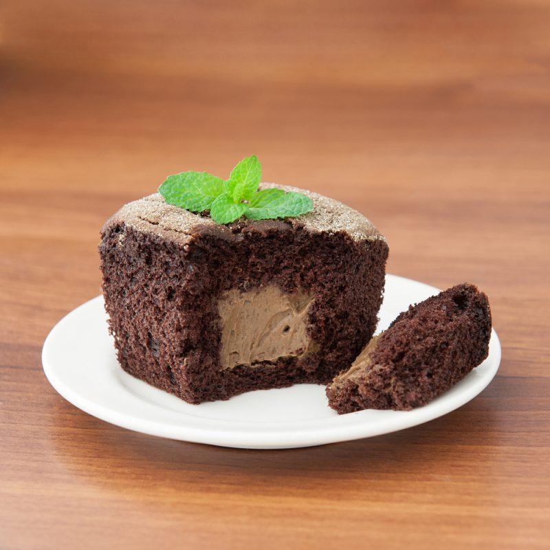 Шоколадный творожный кекс с начинкой: рецепт