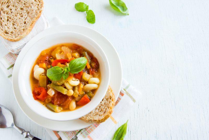 Итальянский сырный суп с овощами «Минестроне»