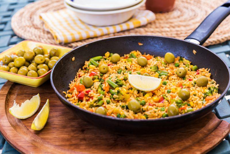 Овощная паэлья: рецепт с фото