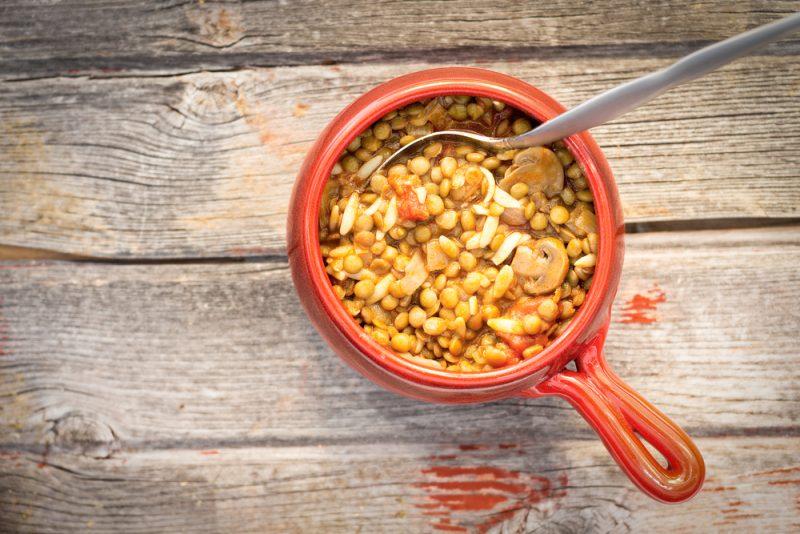 Чечевица с грибами: рецепт с фото