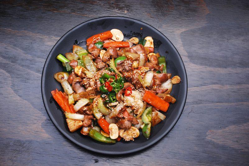 Курица терияки рецепт на сковороде с овощами