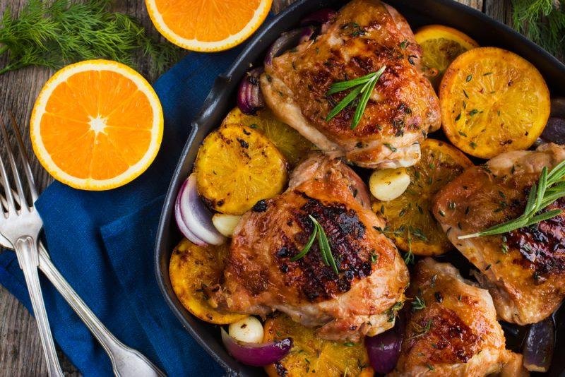 Курица с апельсинами: рецепт с фото