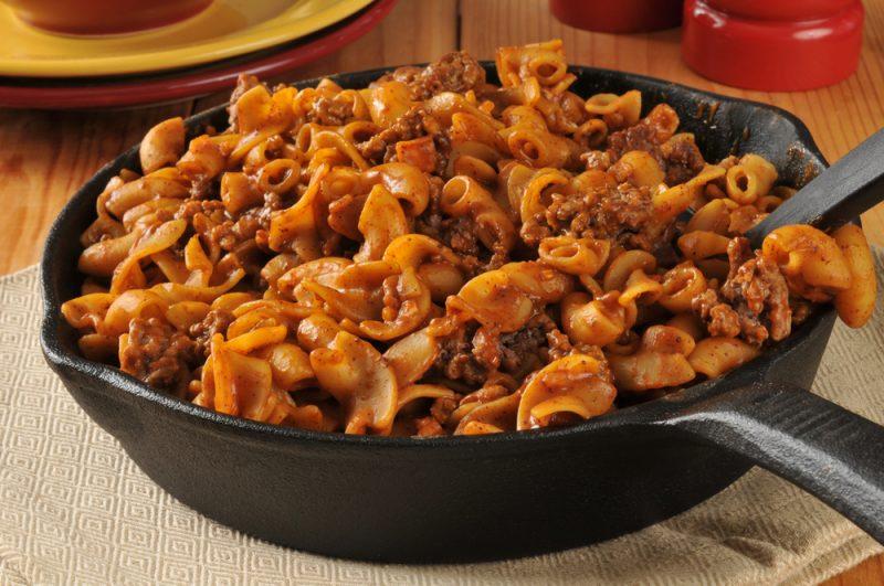 Оригинальный рецепт макаронной запеканки с фаршем и грибами