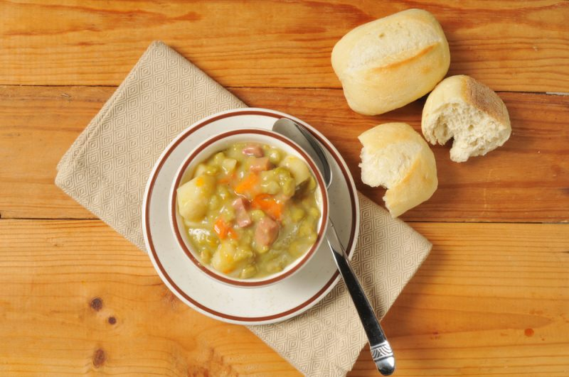 суп из гороха с мясом