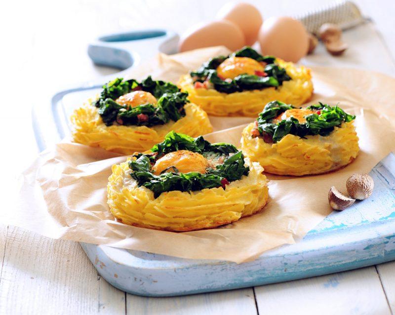 Гнезда из картофеля: рецепт с фото