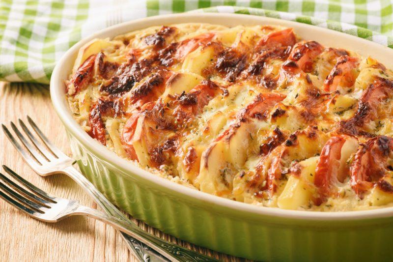Рецепт запеканки из картошки и помидор
