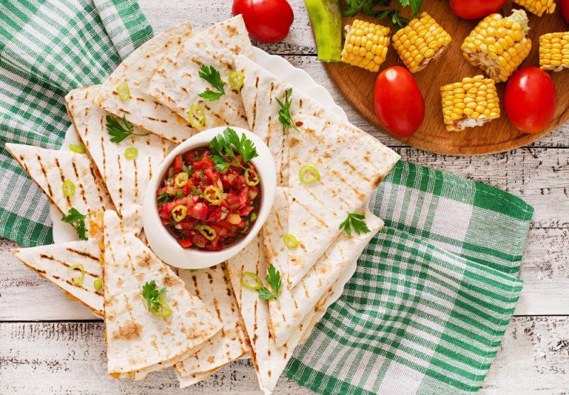 Вегетарианская кесадилья: рецепт с фото в домашних условиях