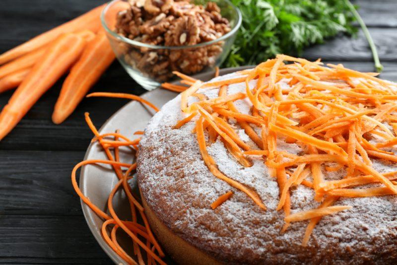 Морковный шоколадный пирог