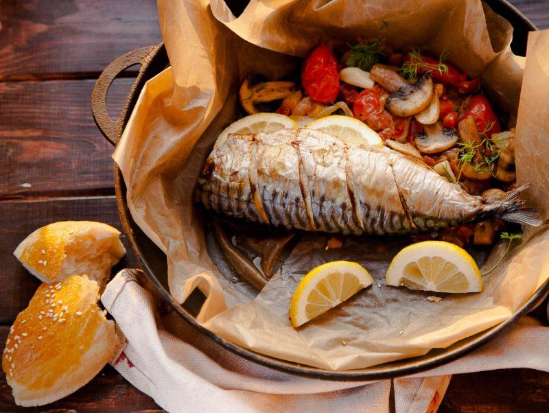 Скумбрия, жареная по египетскому рецепту