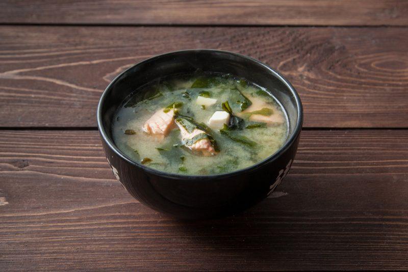 Суп мисо с рыбой