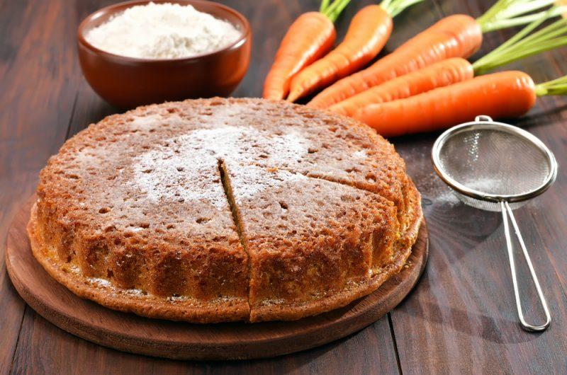 Быстрый морковный пирог
