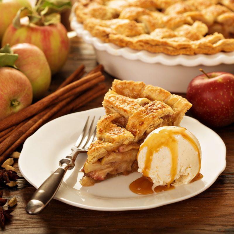 Американский яблочный пирог: простое тесто