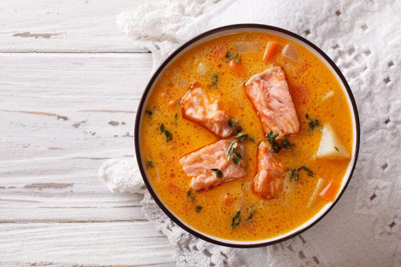 Сливочный суп из семги: рецепт с фото